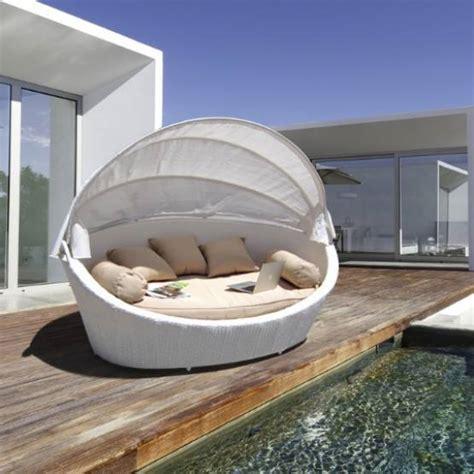 divani tondi divano tondo in rattan sintetico basma white