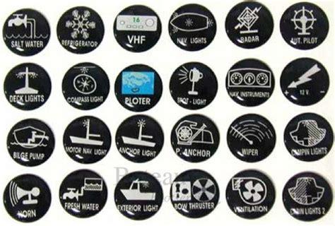 Sticker Produk Merk Br 205 stickers voor schakelpanelen set 24 stuks