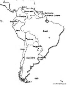 south america printable maps