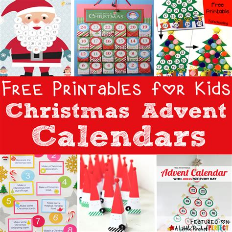 printable homemade advent calendar 13 free printable christmas advent calendars for kids