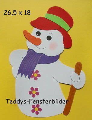 Fensterdeko Weihnachten Stock by Teddys Fensterbilder 854 180 Schneemann Mit Stock