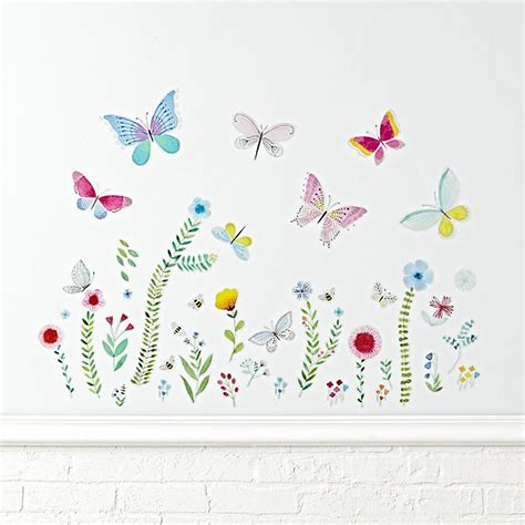 butterfly garden wall garden butterfly wall decal the land of nod