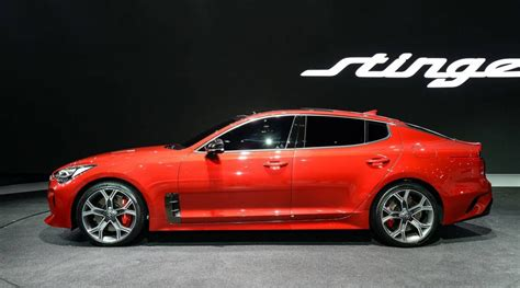 kia stinger official 0 100km h power outputs confirmed
