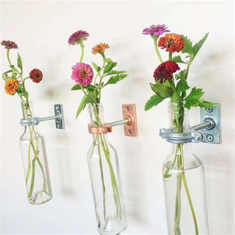 Wall Vase by 2 Wine Bottle Wall Flower Vases S Day Gift Wall