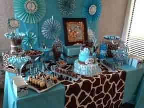safari baby shower table table ideas