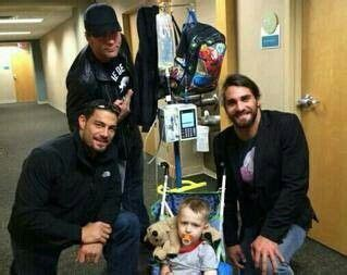 does dean ambrose have kids the shield at a children s hospital superstars of wwe