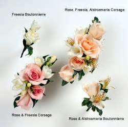 How To Make Wrist Corsage Boutonnieres Corsages Peach