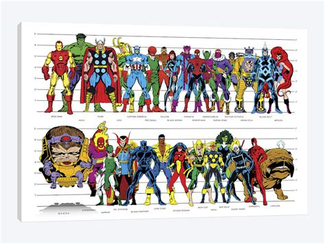 printable celebrity posters marvel superheroes height comic style poster a marvel