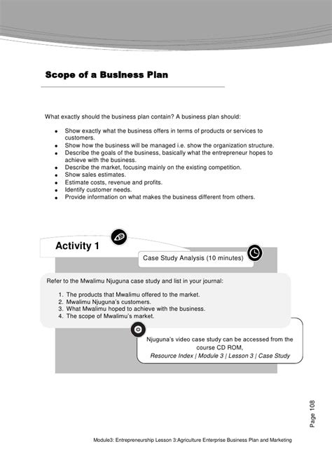 sle business plan on agriculture farmer s agribusiness training course module 3