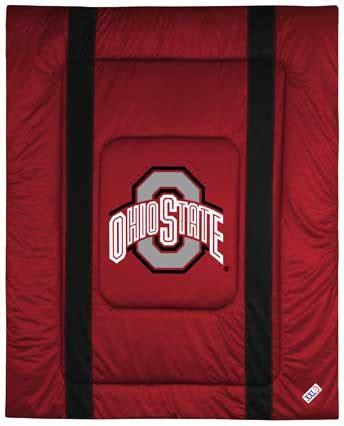 ohio state bedroom decor ohio state buckeyes side lines comforter