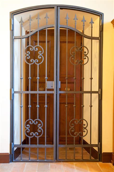 security front door gate iron doors wrought iron doors