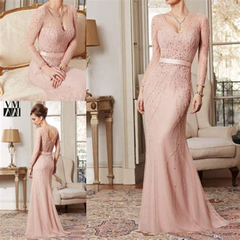 Klething Manggar Pink Dress 7 8th light pink prom dresses beaded prom gowns pink prom