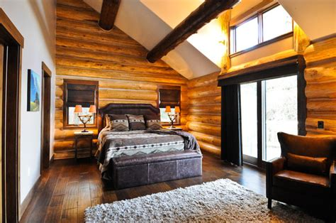 home interiors bedroom rustic log cabin rustic bedroom denver by mountain