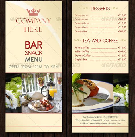23 creative restaurant menu templates psd indesign