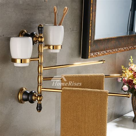Black And Gold Bathroom Accessories Luxury Black And Gold Bathroom Accessories Polished Brass Wall Mount