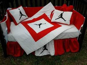 Michael Jordan Bedroom Set Michael Jordan Red And White Crib Bedding Set Baby Stuff