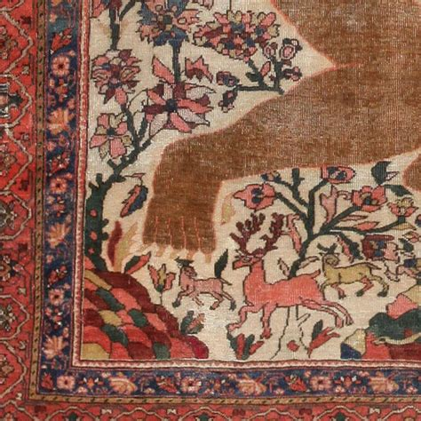 farahan rug antique mythological sarouk farahan rug for sale at 1stdibs