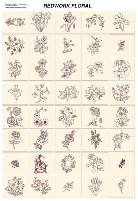 free design embroidery jef redwork floral card machine embroidery designs jef files