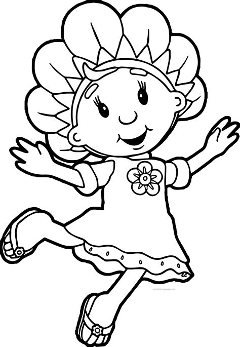 the coloring pages fifi and the flowertots coloring pages wecoloringpage