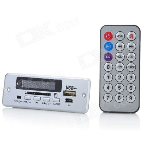 Usbsd Digital Player Silver 1 0 quot mp3 player module w fm usb mini usb sd slot silver 5v free shipping dealextreme