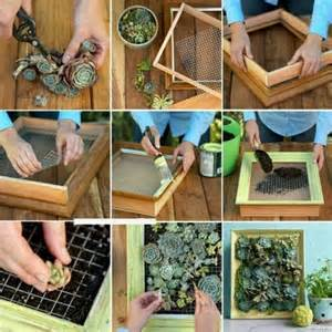 How To Make A Vertical Garden With Succulents Vertical Mini Gardens Succulents Room Decorating Ideas