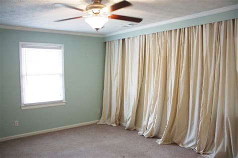 full wall curtain full wall curtain blockbuster bower power bedroom curtains
