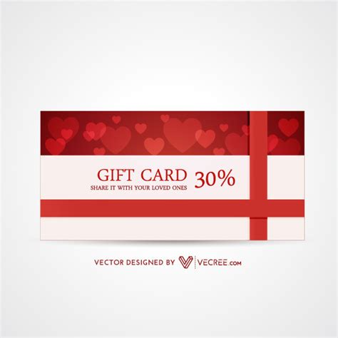 Free Gift Card Design - 30 discount valentines day gift card design free vector free vectors ui download