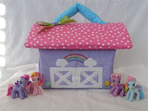 my little pony dolls house my little pony inspired fabric doll house stable ready to ship