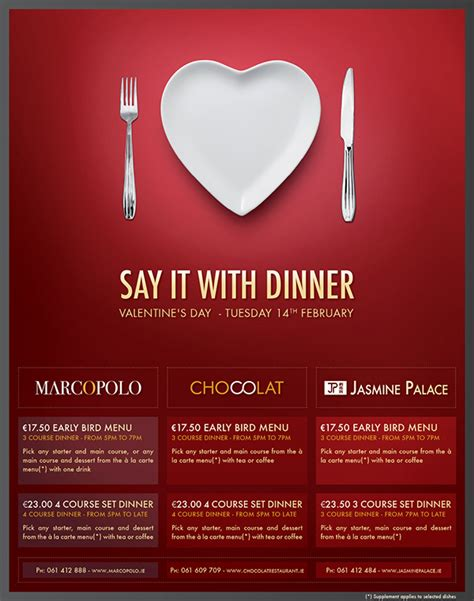 restaurants for valentines restaurant print advertisement s day on behance