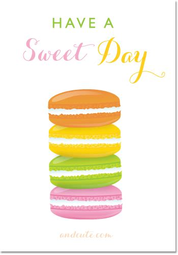 free sweetest day card templates macarons a sweet day printable