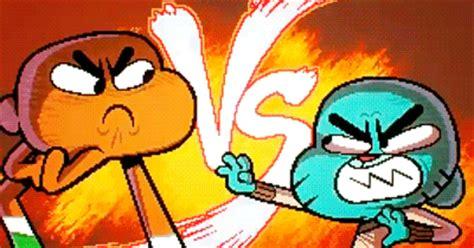 el increible mundo de gumball pelea darwin vs gumball mundo de gumball tumblr