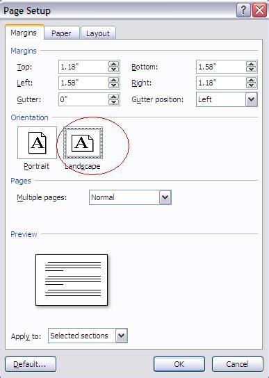 format landscape adalah merubah satu halaman word 07 menjadi landscape this line
