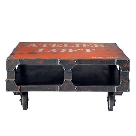 Ordinaire Table Basse Maison Du Monde #1: table-basse-a-roulettes-rouge-l-90-cm-terminus-1000-10-19-118058_3.jpg