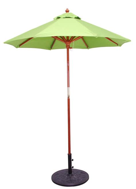 Wooden Patio Umbrella 6 Sunbrella B Wooden Market Umbrellas