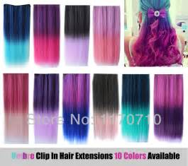 colorful extensions aliexpress buy cheap synthetic clip in ombre