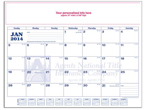 personalized desk blotter calendar title calendar products