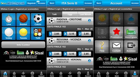 sisal match point mobile app race sisal matchpoint la novit 224 per il