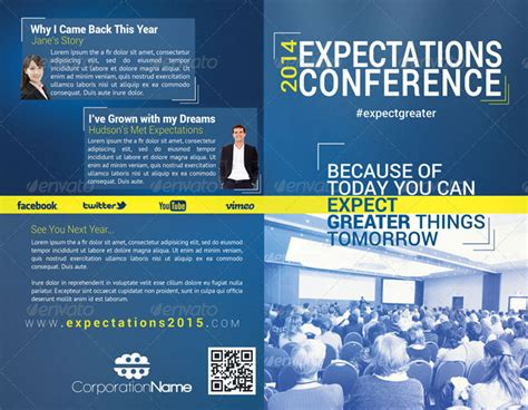 conference brochure template 20 printable bi fold brochure templates