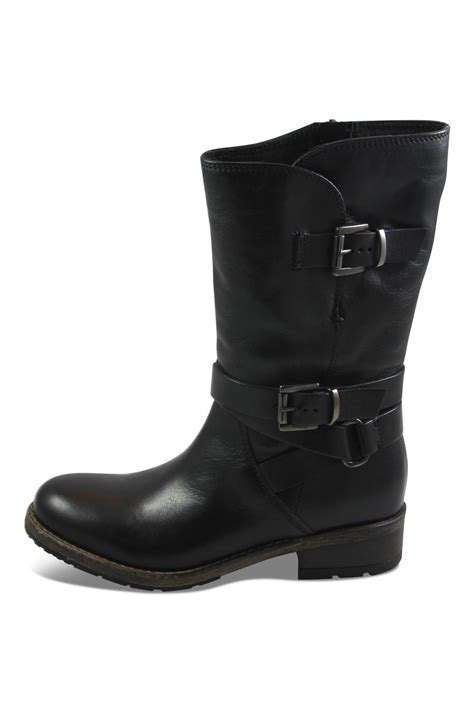 clarks black mid boot from canada by big boot inn shoptiques