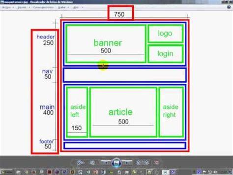 tutorial php y html5 estructuras de maquetacion con html5 y css 1 3 youtube