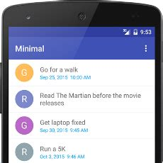 minimal to do is a fast and fresh to do list app dressed
