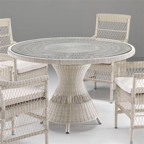 tavoli rotondi da giardino tavolo rotondo in rattan sintetico