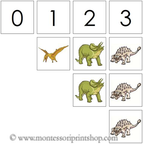 free printable dinosaur number cards 0 to 10 numbers counters dinosaurs printable
