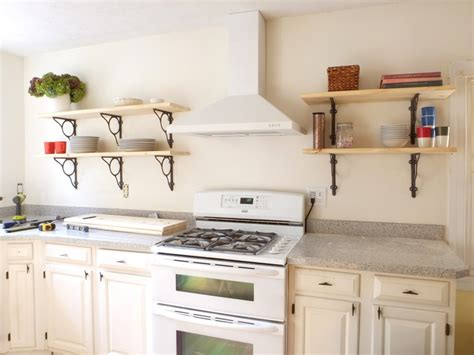 kitchen wall shelving white wall shelves for effective storage in small kitchen