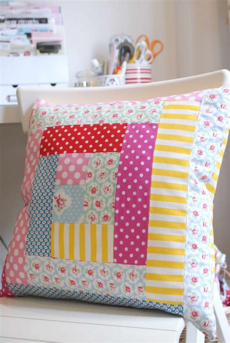 Patchwork Decorations - 18 best images about log cabin cushion on