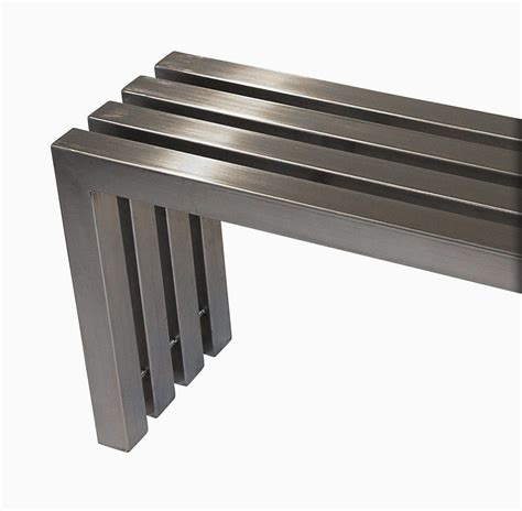 stainless bench buy a hand made modern stainless steel tube bench made to