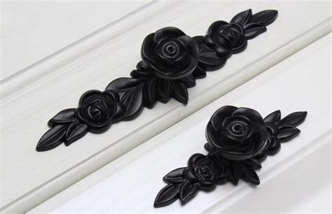 unique cabinet pulls and knobs black knobs flower pulls handles unique cabinet pulls