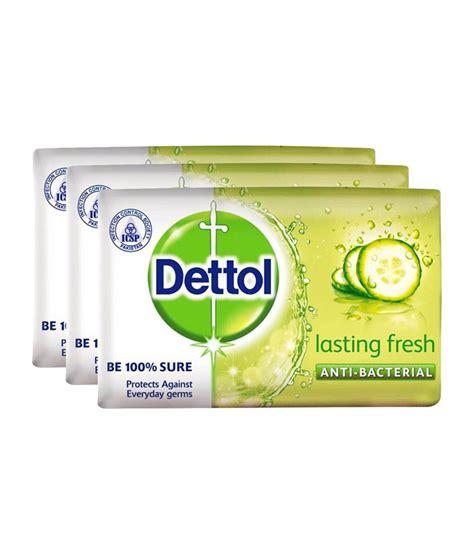 Detol Fresh dettol lasting fresh soap 125 gm pack of 3 buy dettol lasting fresh soap 125 gm pack of