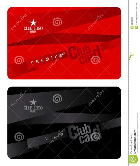 plastic card design template club card design template royalty free stock images