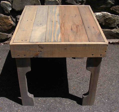 pallet wood end table reclaimed pallet end table